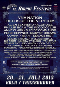 Flyer des Amphi Festivals