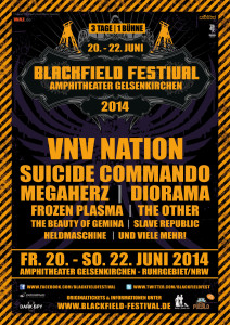 Flyer des Blackfield Festivals