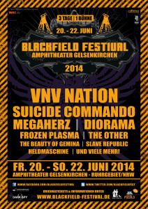 Flyer des Blackfield Festivals